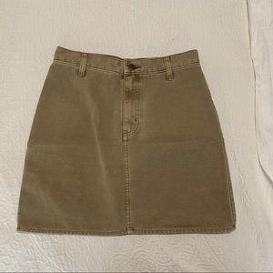 Aritzia Sunday Best Denim Khaki Skirt